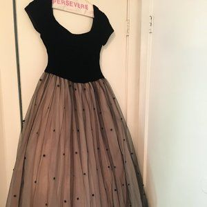 Vintage Watters & Watters Tulle Evening Gown